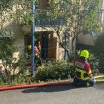 Menzingen ZG - Kochgut gerät in Brand