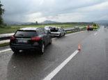 Unfall A1 bei Oberbüren: Crash zwischen drei Autos