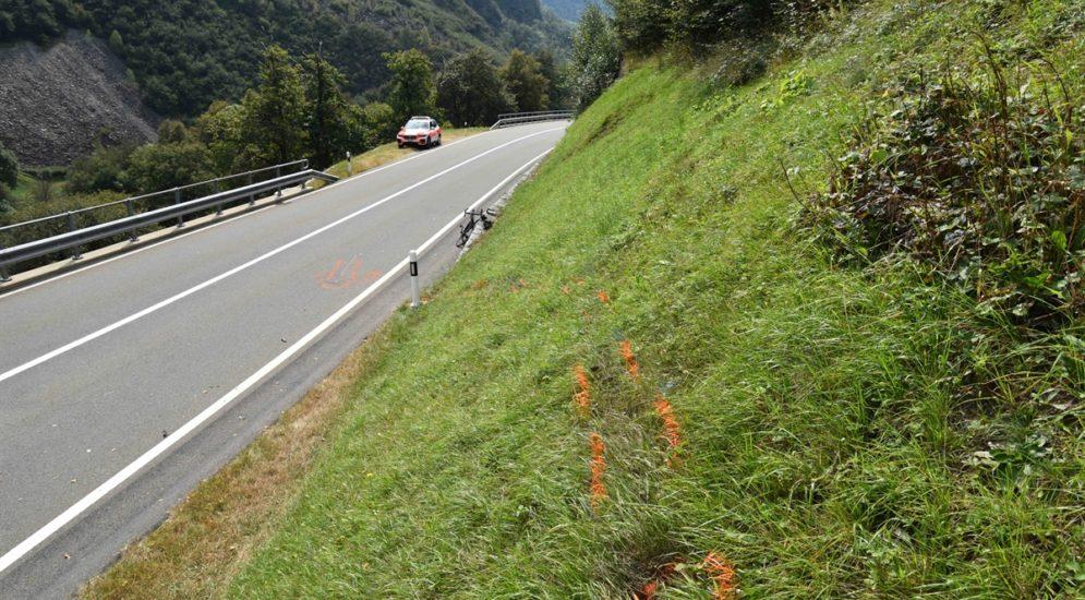 Unfall Soazza GR - Schwer verletzt liegen geblieben