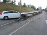 Wittenbach SG: Bei Unfall gegen Kandelaber und Leitplanke geprallt