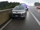Auf der A1 bei Goldach ist es am Mittwoch zu einem heftigen Unfall gekommen. Ein Autofahrer prallte dabei in eine Begrenzungsmauer.