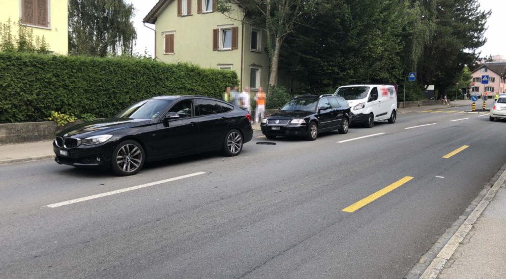 Wittenbach SG: Unfall mit drei Autos