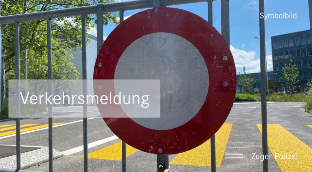 Moosrank ZG: Strassensperrung wegen Brand - Bitte umfahren!