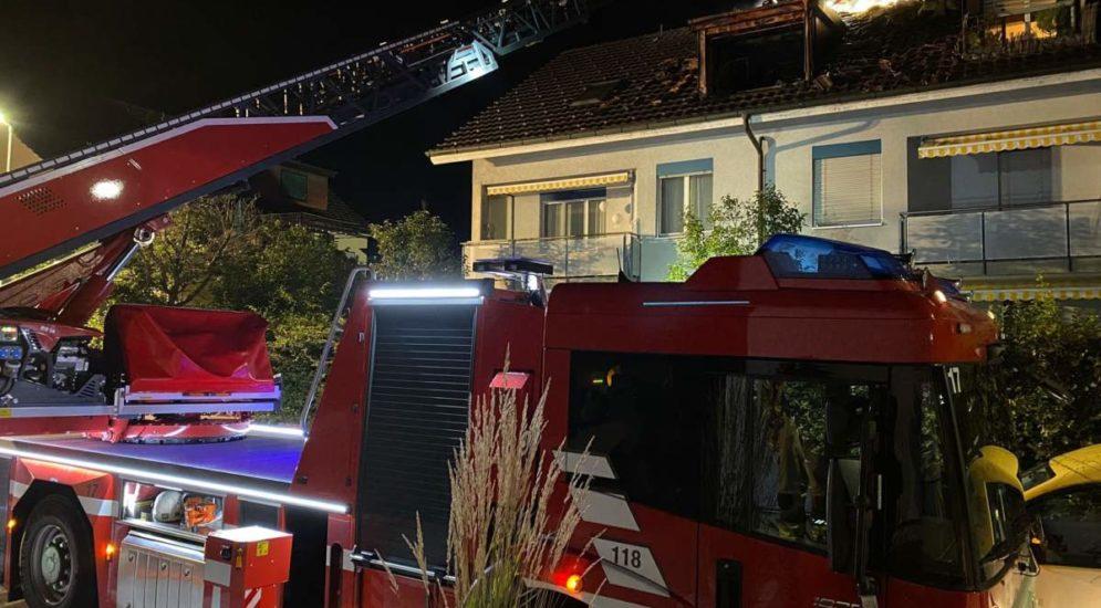 Bümpliz BE: Brand in Dachgeschoss