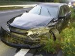 Unfall A2, Sempach: In Mittelleitplanke gekracht