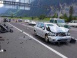 A2 Altdorf: Bei schwerem Unfall lebensbedrohlich verletzt