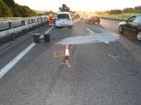 Gossau SG: Unfall auf der Autobahn A1