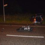 Gunzgen: Motorradlenker prallt bei Unfall in entgegenkommendes Auto