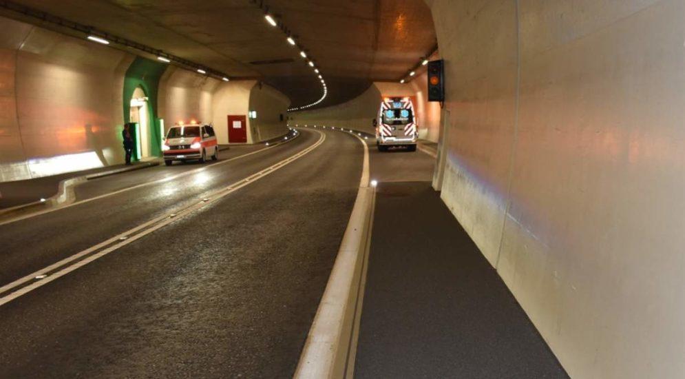 Unfall in Küblis GR: Fahrradfahrer stürzt in Umfahrungstunnel