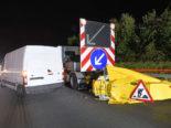 Unfall A2, Schenkon LU: Lieferwagenfahrer kracht in Anpralldämpfer