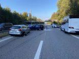 Unfall A1, Derendingen SO: Vier Verletzte, A1 eine Stunde nicht passierbar