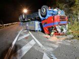 Liesberg BL: Mit geklautem Lastwagen Unfall heftigen gebaut