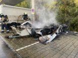 Liestal BL: Wohnwagen ausgebrannt - War es Brandstiftung?