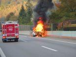 Eptingen BL: Fahrzeugbrand auf der A2 mit Tunnelsperrung