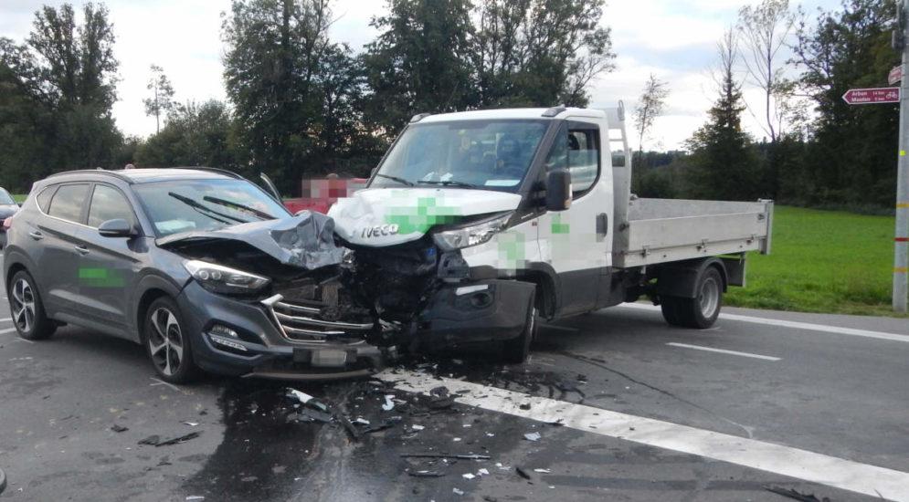 Sitterdorf TG: Auto übersehen und Unfall verursacht
