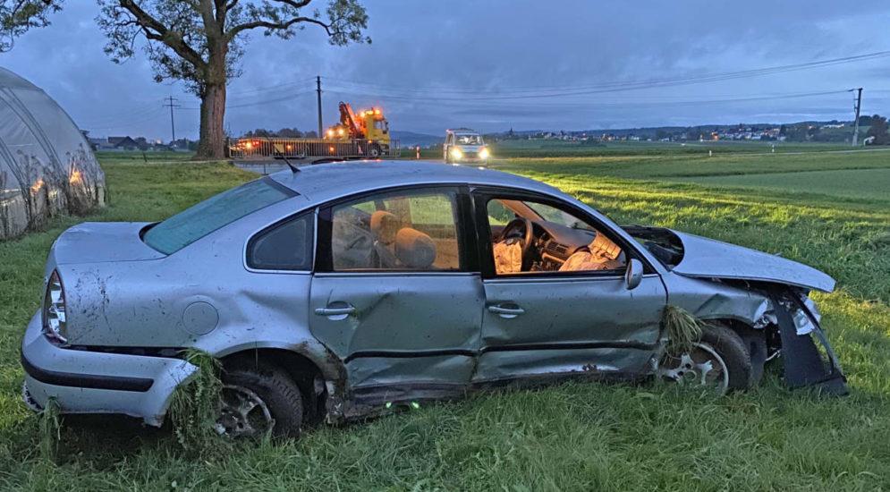 Bonau TG: Bei Unfall mit Auto im Bachbett gelandet