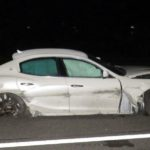 Benken SG: Maserati-Lenker verursacht heftigen Unfall