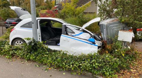 Tägerwilen TG: Autofahrerin bei Unfall gegen Container geprallt