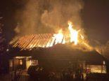 Vordemwald AG - Wohnhaus von Feuer verschlungen