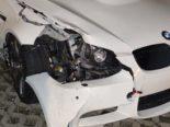 Holderbank AG: Neulenker donnert bei Unfall mit BMW M3 in Strassenlampe