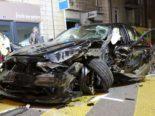 St. Gallen: BMW bei Unfall vollkommen zerstört