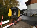 Mosnang SG: Containerbrand auf Baustelle