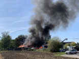 Sursee LU - Schopf in Brand geraten