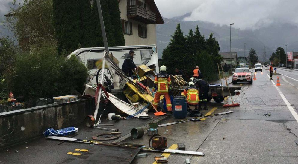 Altdorf UR: Anhänger macht sich selbständig und verursacht Unfall