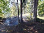 Alpnach OW: Schwelbrand durch Lagerfeuer
