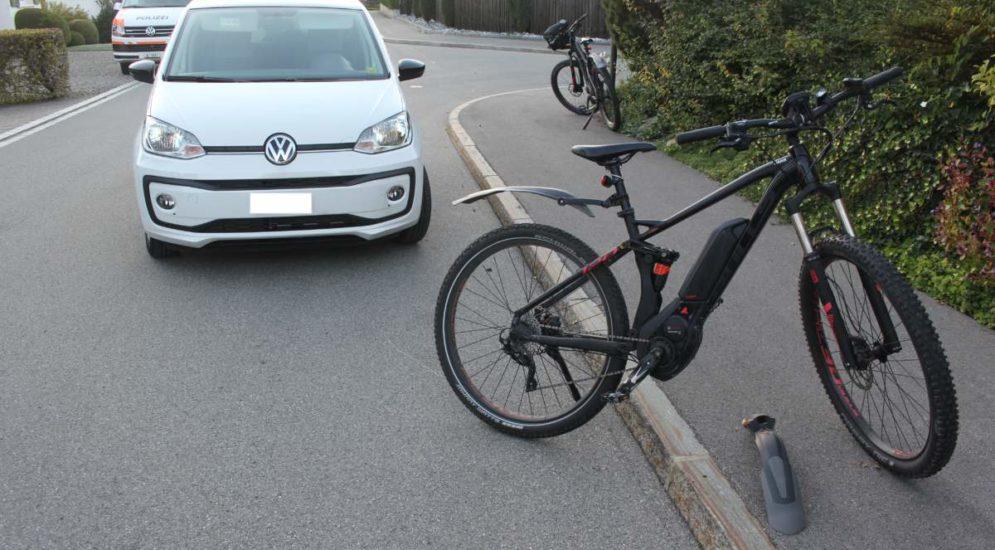 Appenzell AI: E-Bike-Fahrer bei Unfall mit Auto verletzt