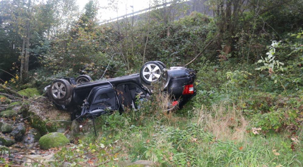 Gontenbad AI: Parkiertes Auto rollt ins Kaubachtobel