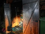 Rebstein SG - Sachschaden nach Brand in Gartenhaus
