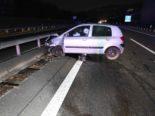 Unfall A1, Rheineck: Lenker (26) eingenickt und gegen Leitplanken geprallt