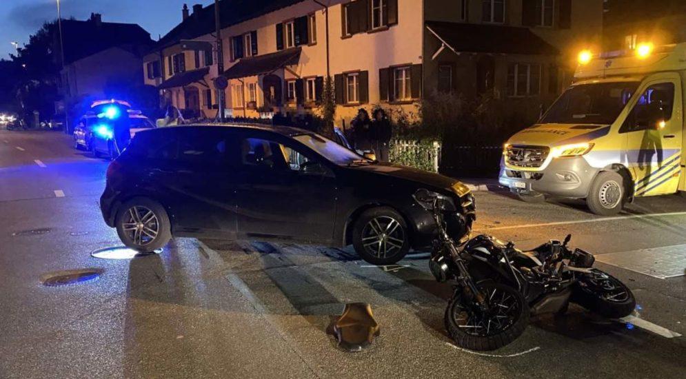 Liestal BL: 16-jähriger Motorradlenker bei Unfall verletzt