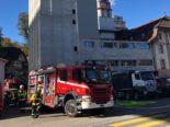 Flamatt FR: Futtermühle in Brand geraten