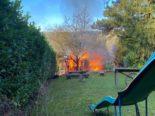 Am Donnerstag, 14. Oktober 2021, kurz vor 16.15 Uhr, kam es in einem Gartenhaus am Leurüttiweg in Reinach BL zu einem Brand.