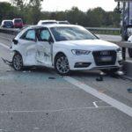 Unfall A1 bei Oensingen SO: Kollision mit drei Fahrzeugen