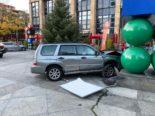 Metalli Zug: Bei Unfall heftig in Kunstobjekt geprallt