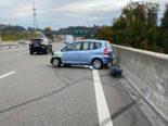 Unfall A1 bei Mülligen AG: Schleudernd gegen Brückenmauer geprallt