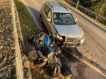 Oberägeri ZG: Motorradfahrer bei Unfall erheblich verletzt