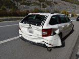Chur GR: Rohre ungenügen gesichert: Unfall auf Autobahn