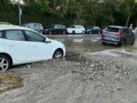 Zürich: Wasserrohrbruch am Sportweg