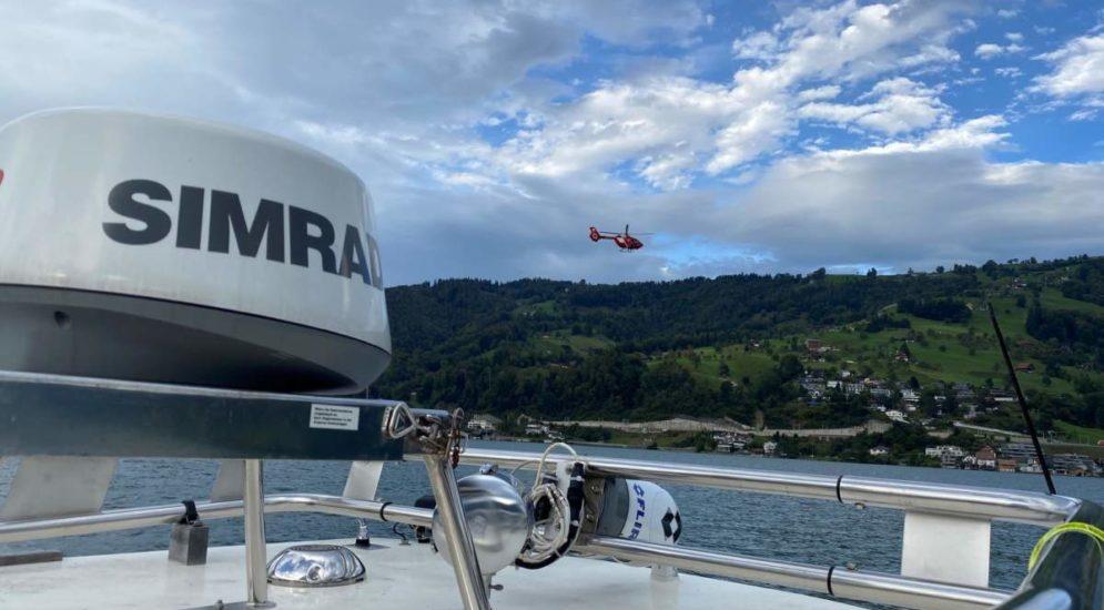 Walchwil ZG: Motorboot gesunken, Person vermisst